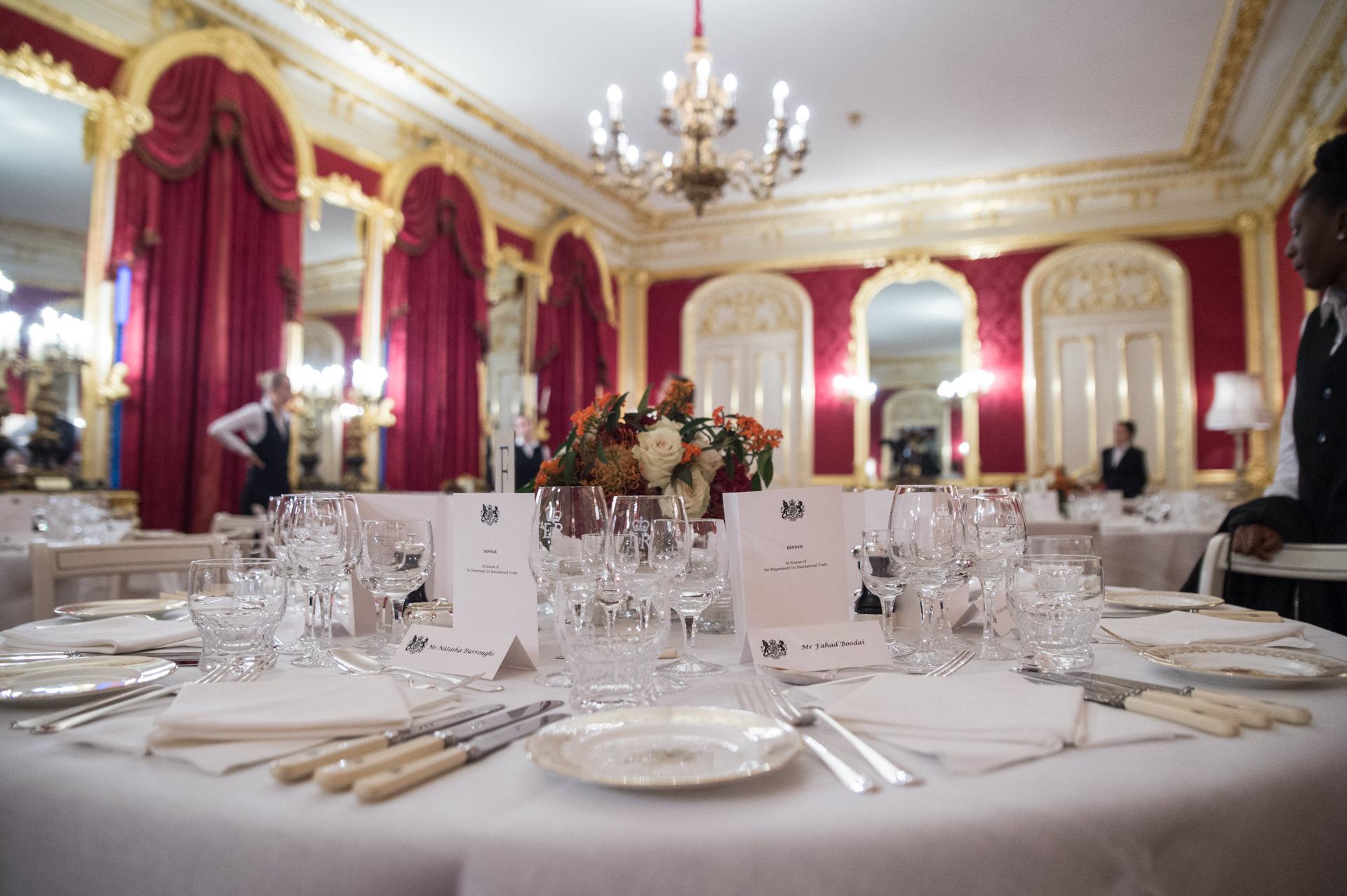 Lancaster House dinner table setting