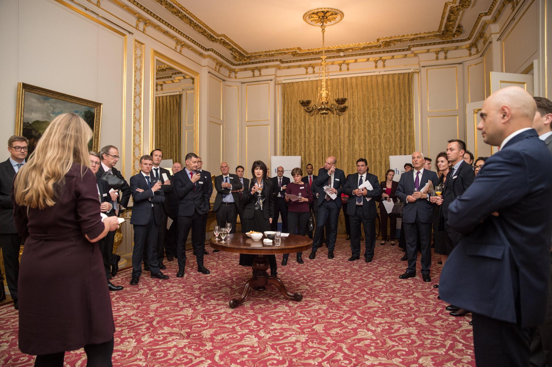 Investors meeting in Lancaster House, London