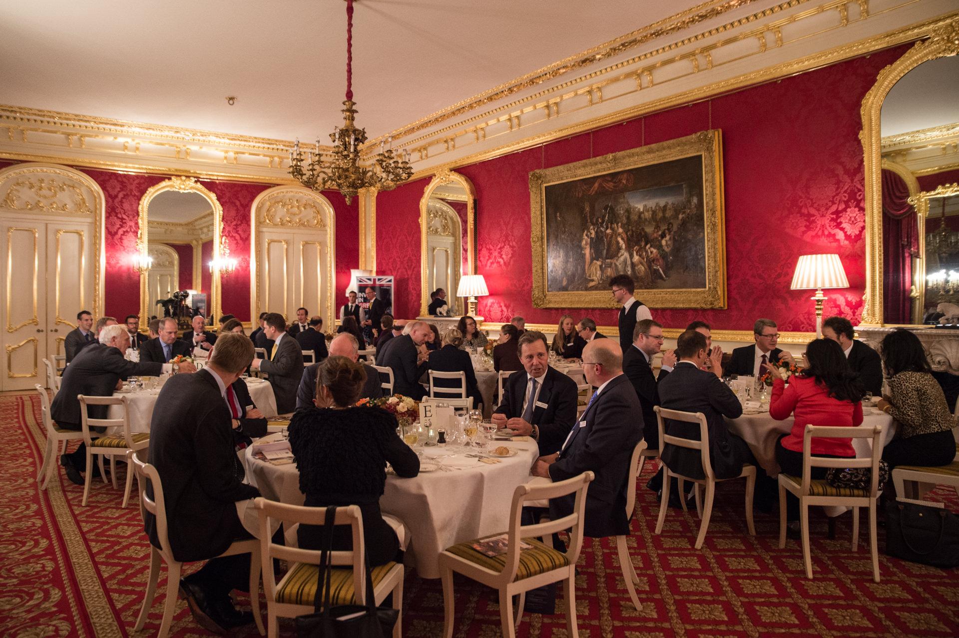 Evening dinner in Lancaster House, London