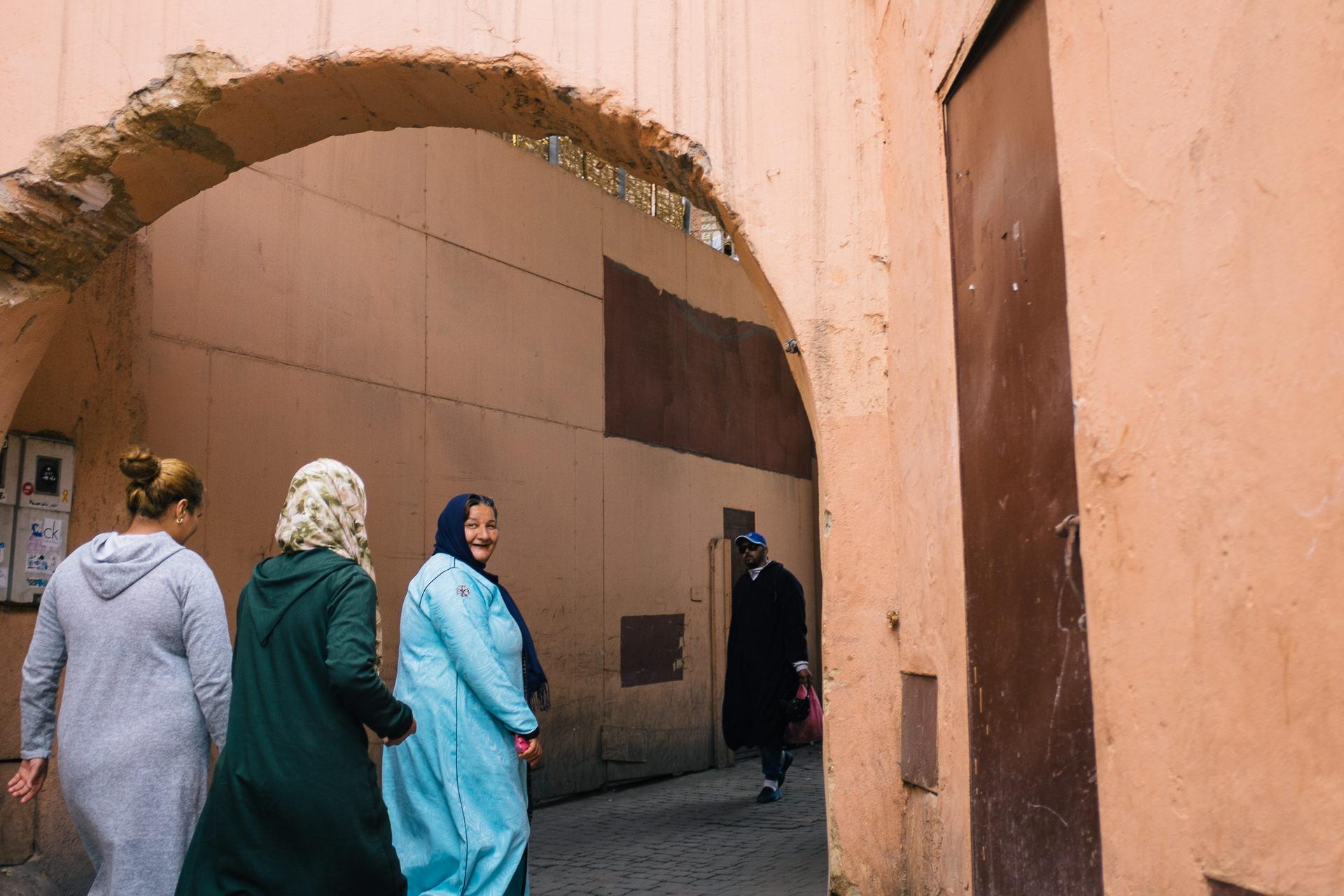 Streets of Marrakesh medina