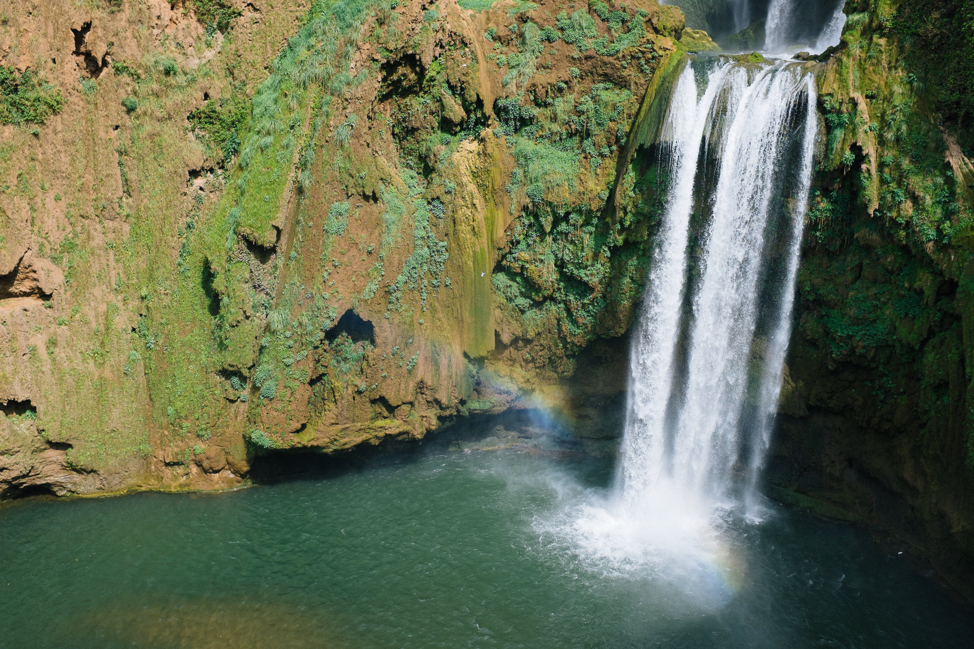 ouzoud waterfall from above