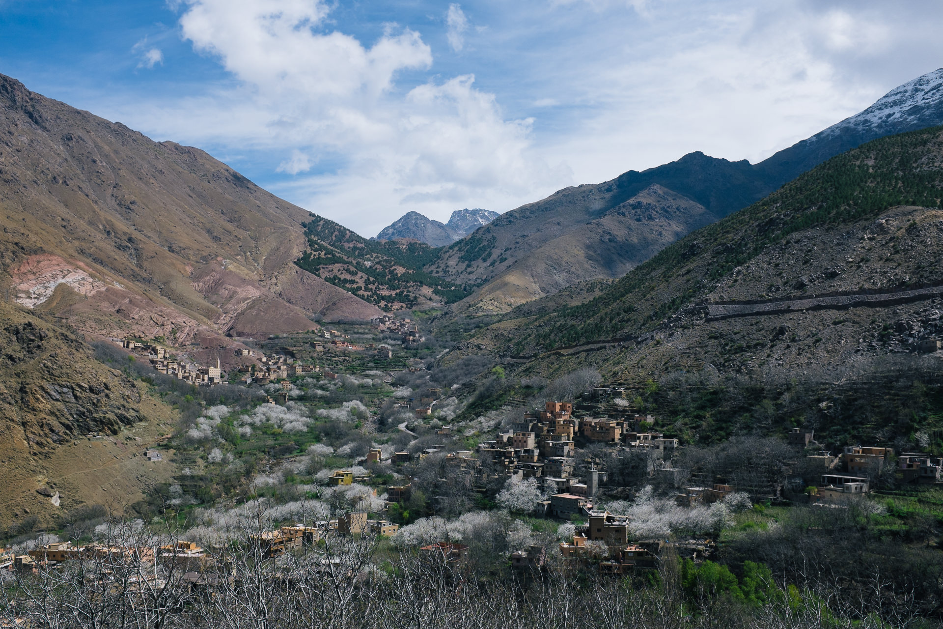 High Atlas valley in Morocco