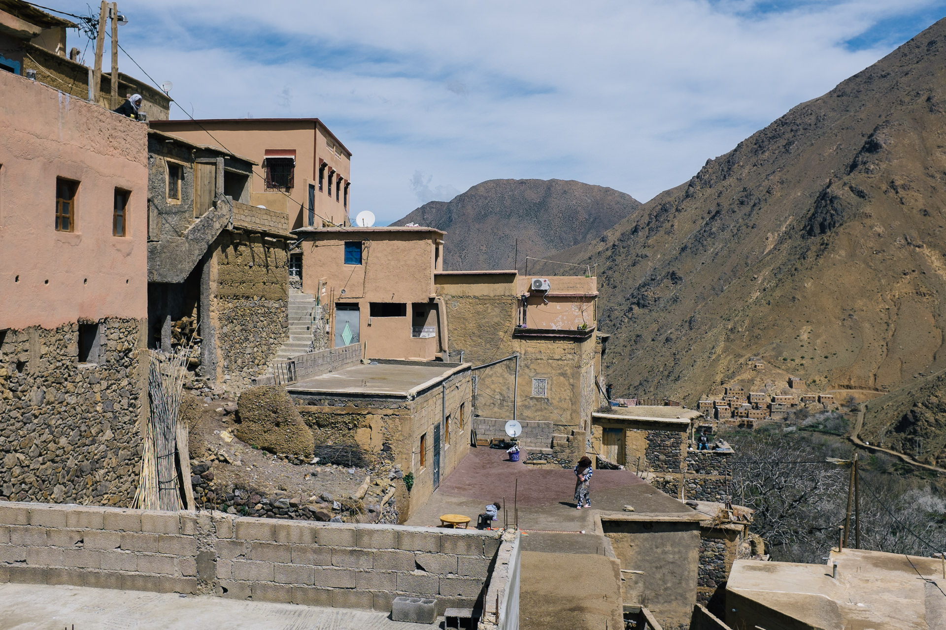 Berbers village and houses in Morocco