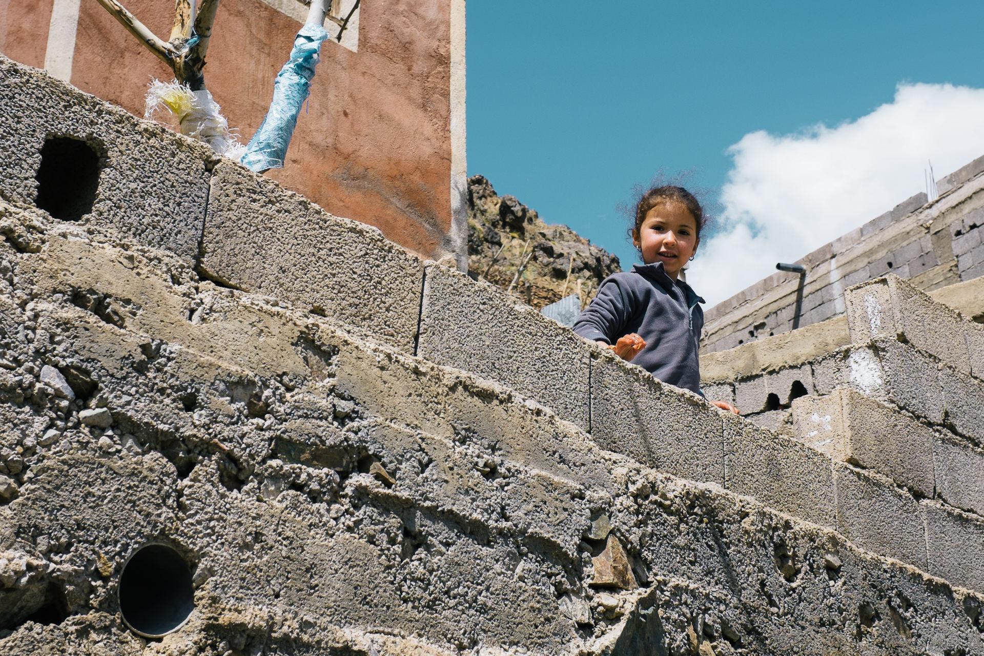 A little girl in a berbers village in High Atlas mountains