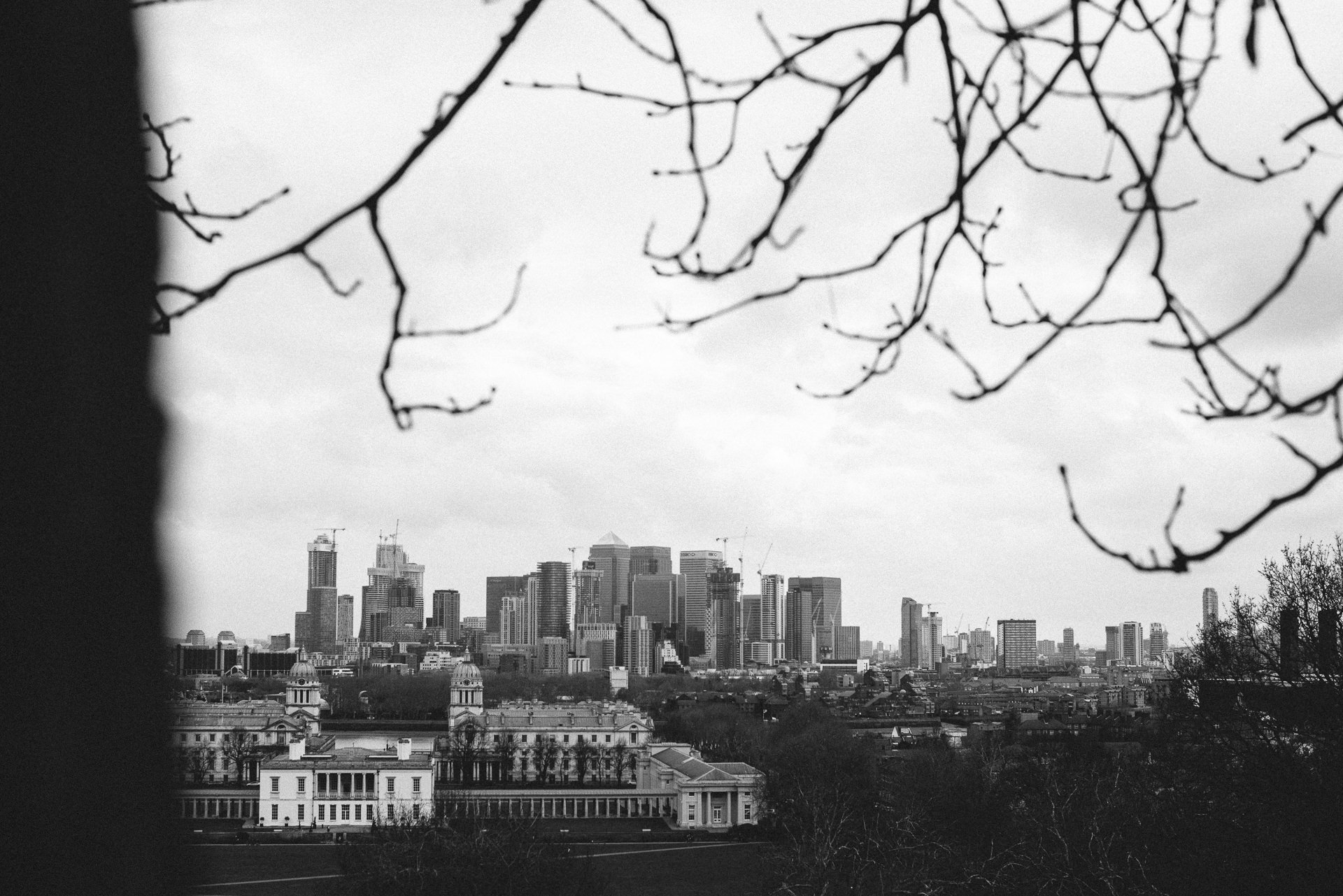 Canary Wharf panorama from Greenwich London
