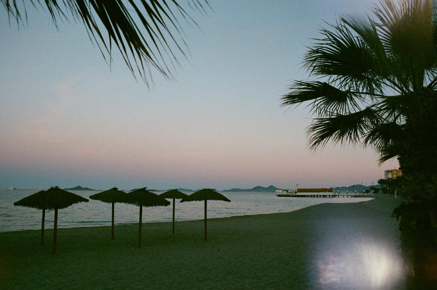 Los Alcazares evening by the sea