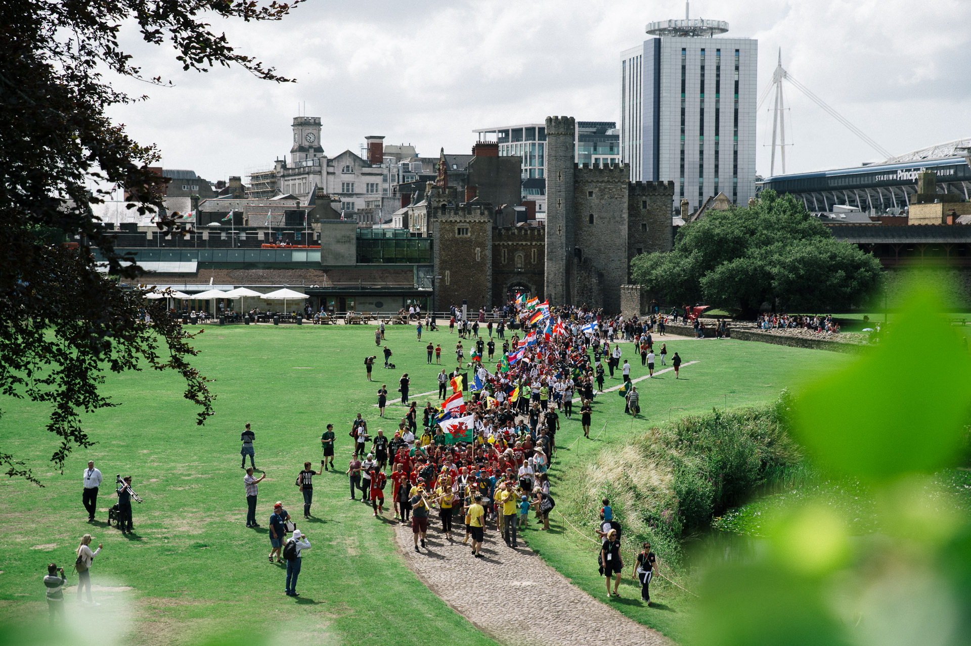 homeless world cup 2019 opening ceremony in bute park cardiff