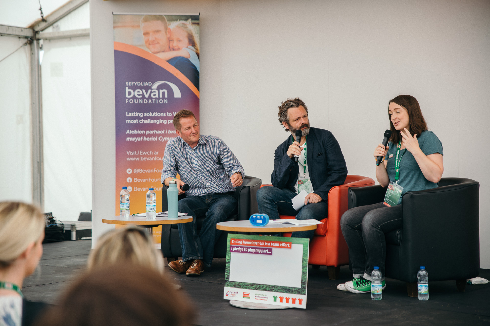 Michael Sheen talks during the cardiff2019hwc