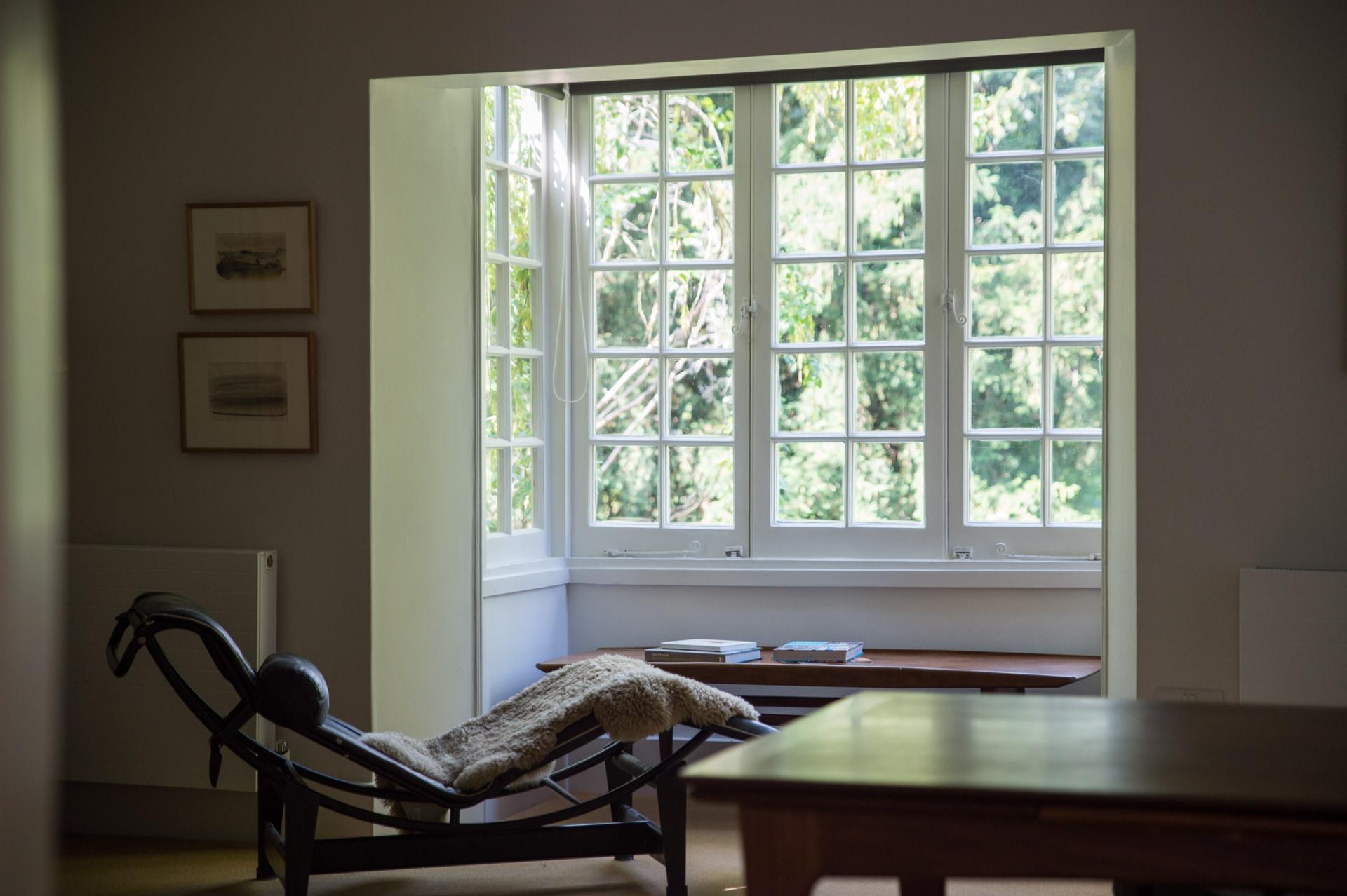 large luxury living room window