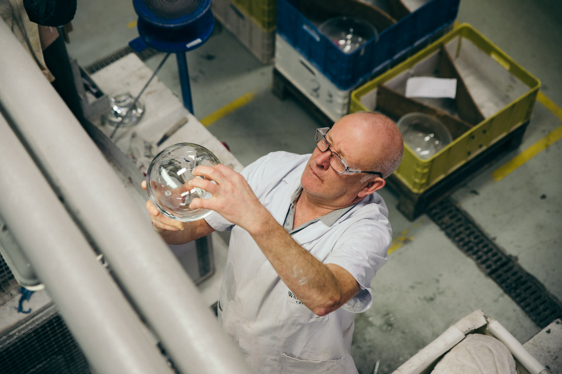 waterford crystal glass inspection