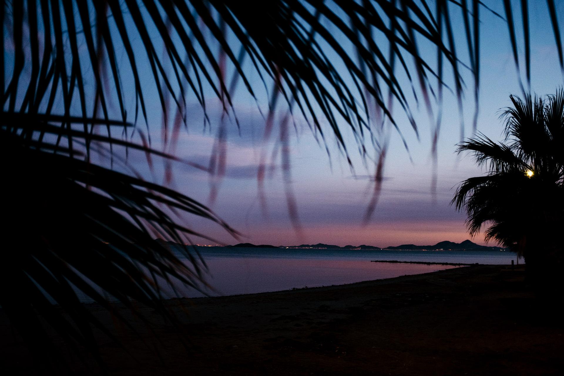 sunset in Los Alcazares, Spain 2019