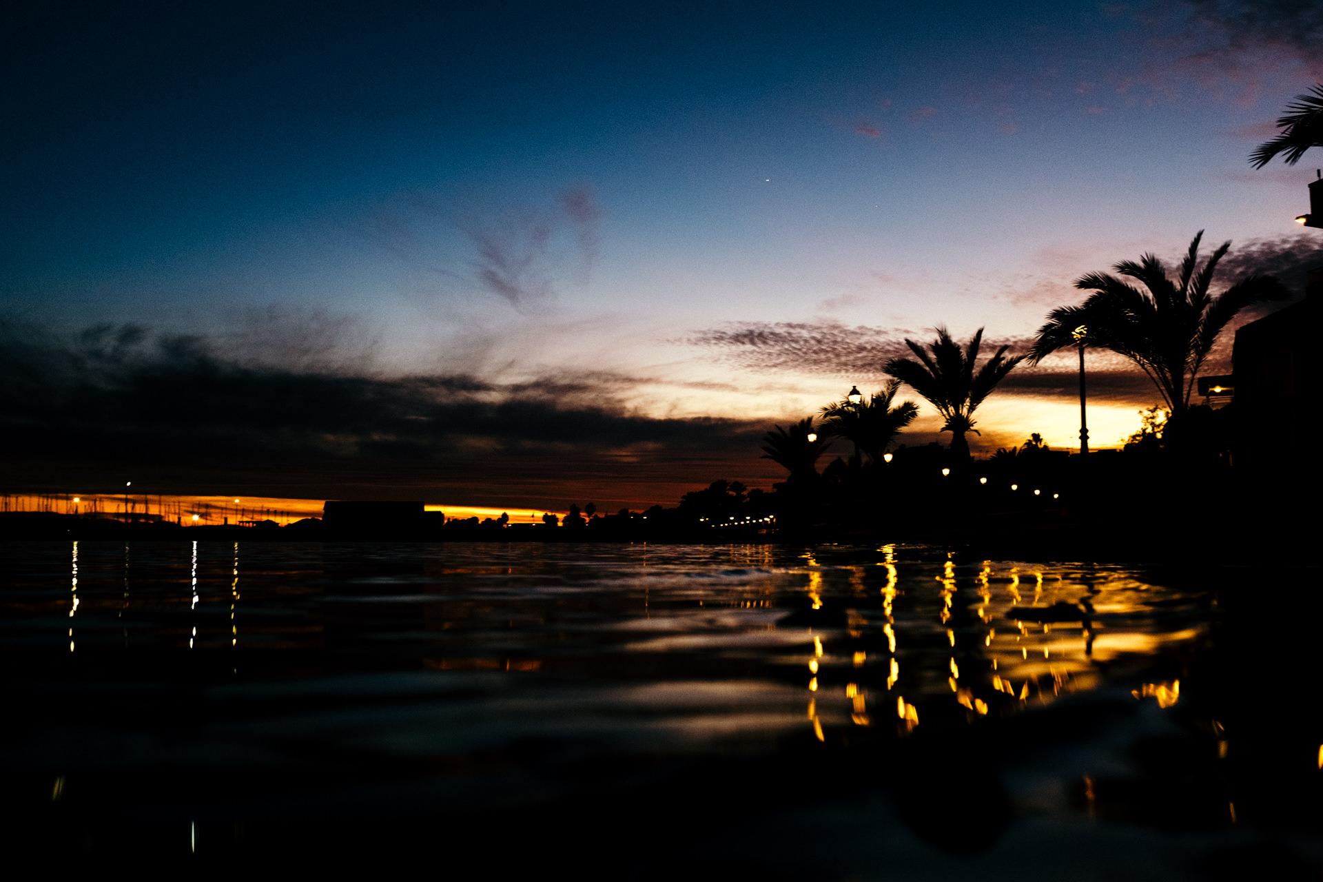 sunset los alcazares spain
