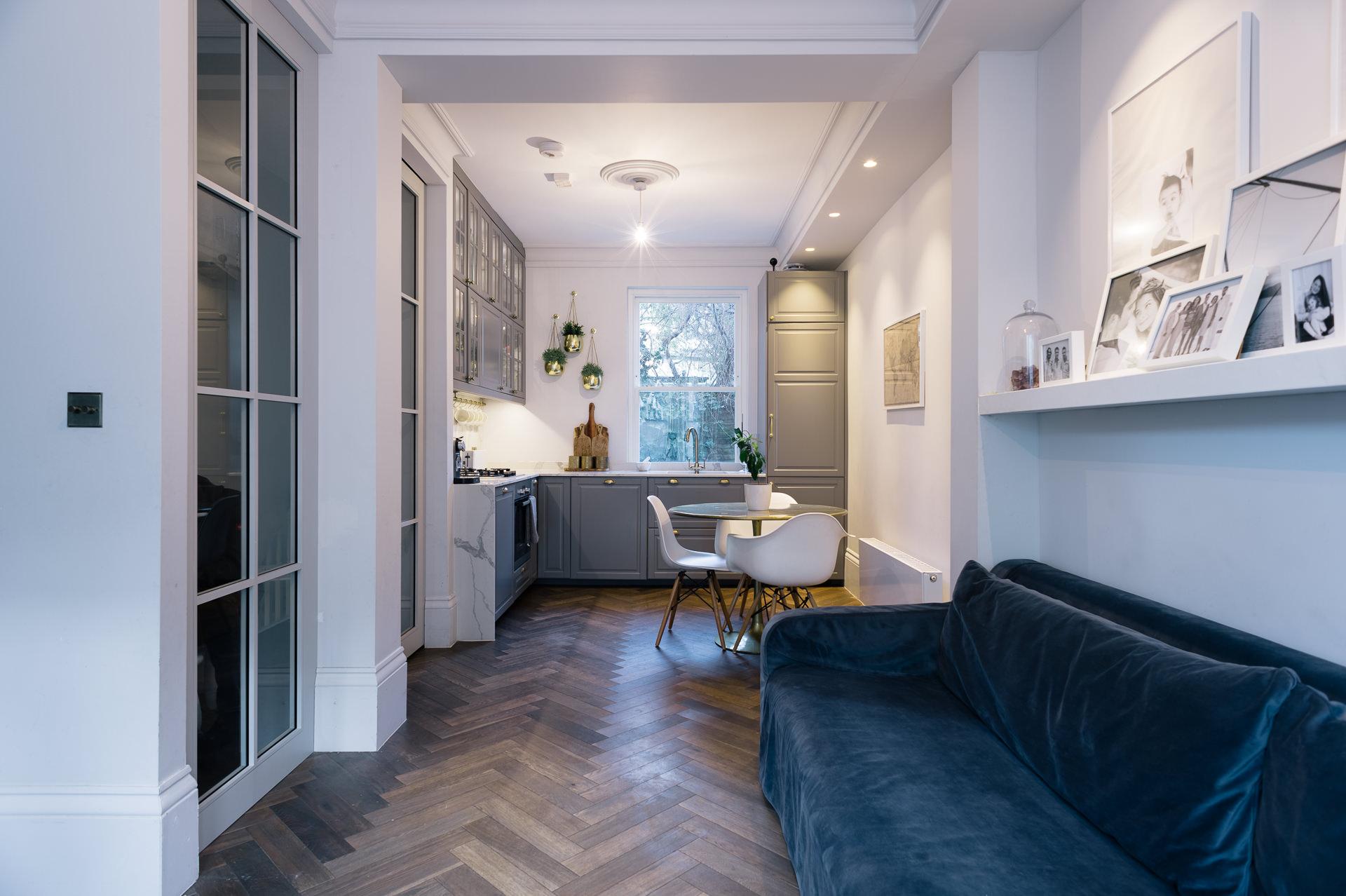 open space basement apartment