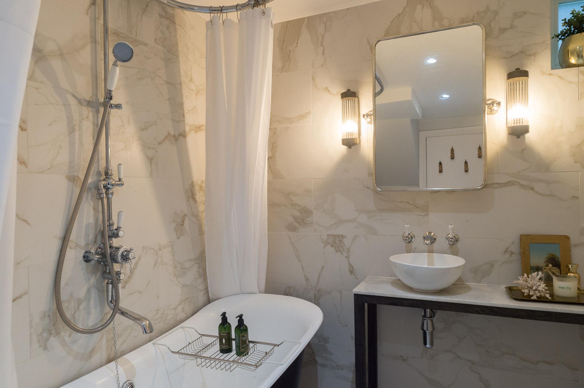 marble bathroom design london