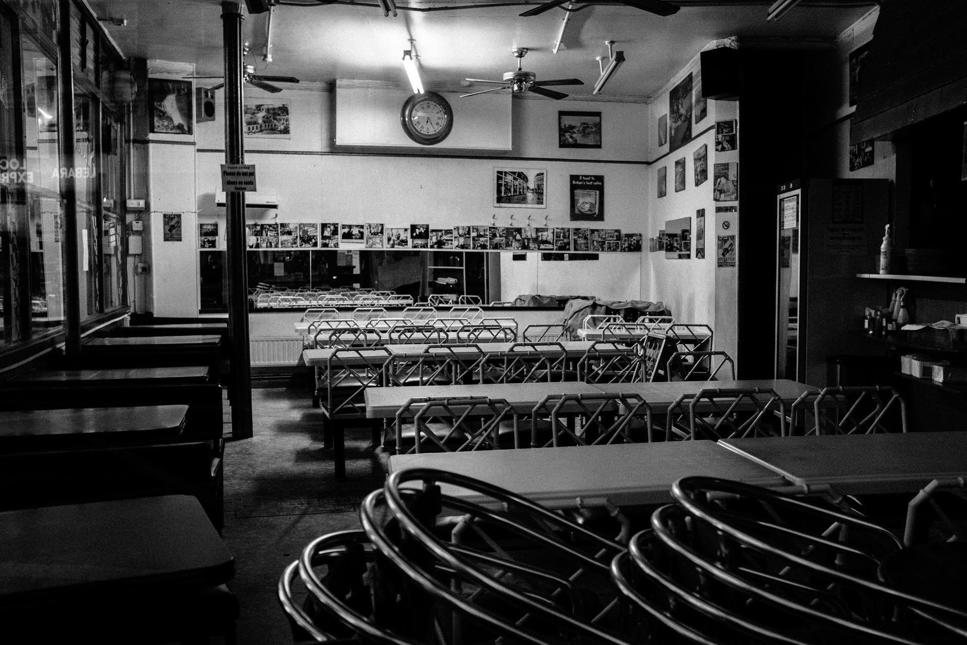 empty cafe old street london