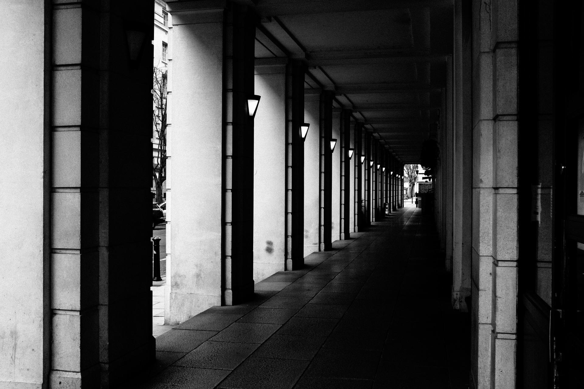 empty central london passage