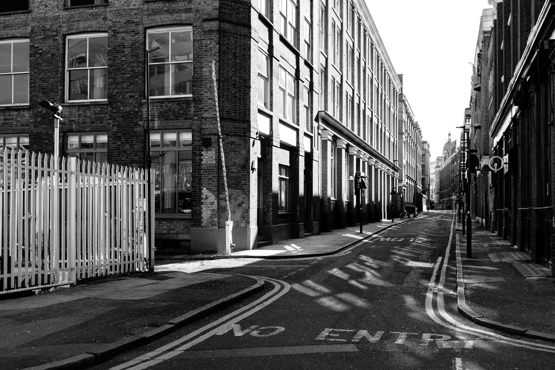 empty street near oldstreet london