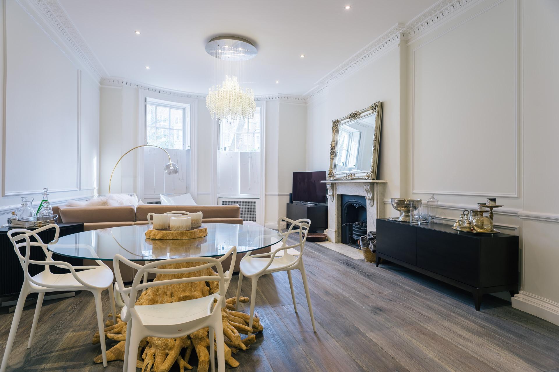 london apartment modern living room