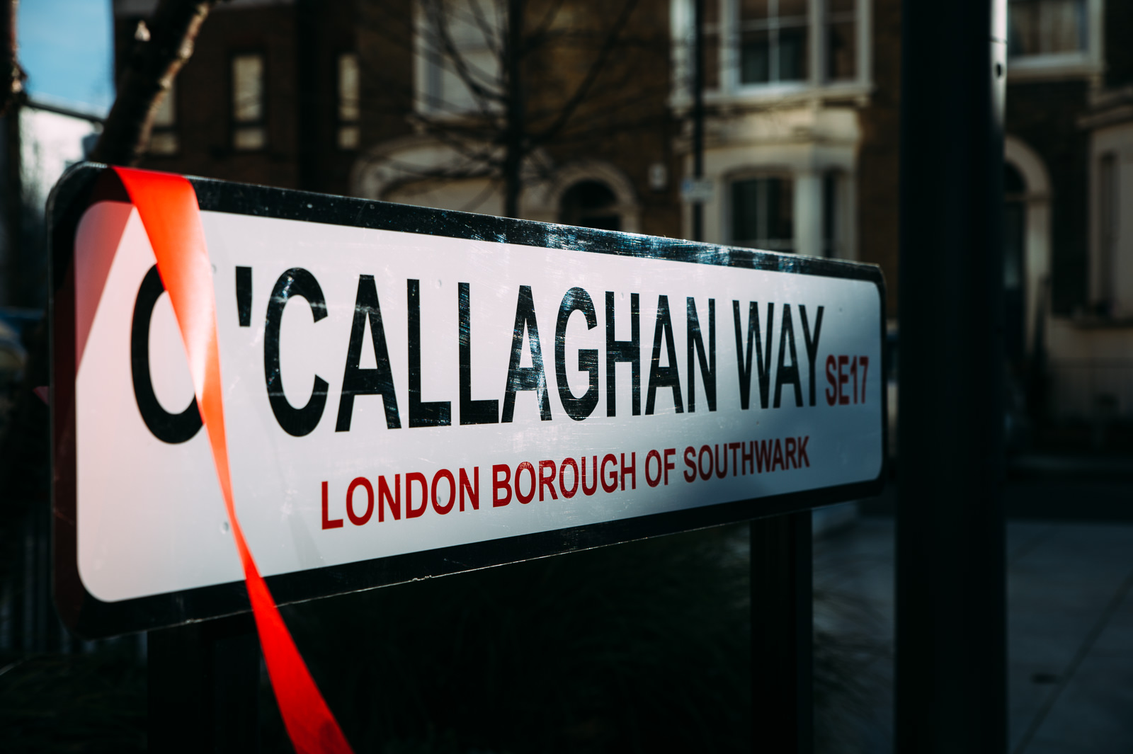 o'callaghan way road sign