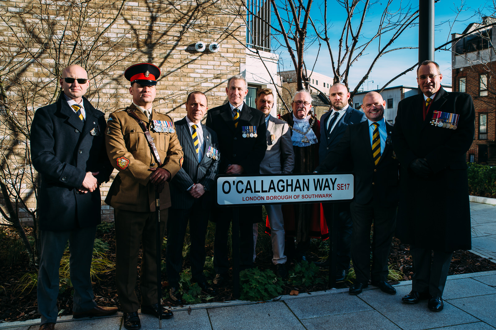 The opening ceremony of O'Callaghan Way, Elephant and Castle, London