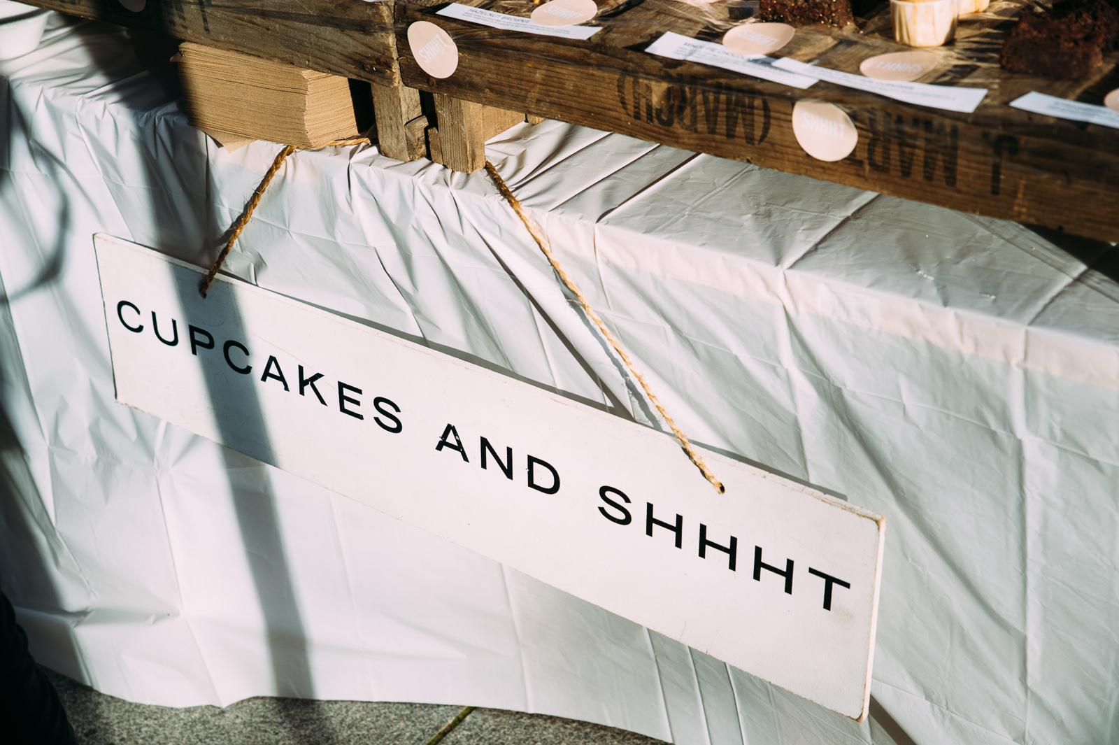 cupcakes and shhht stall