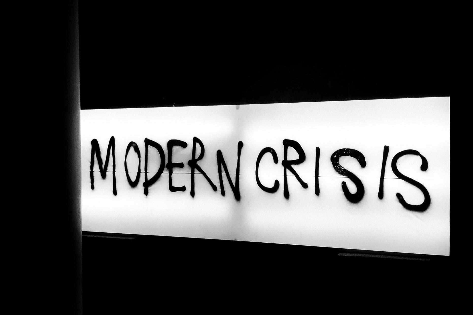 modern crisis graffiti