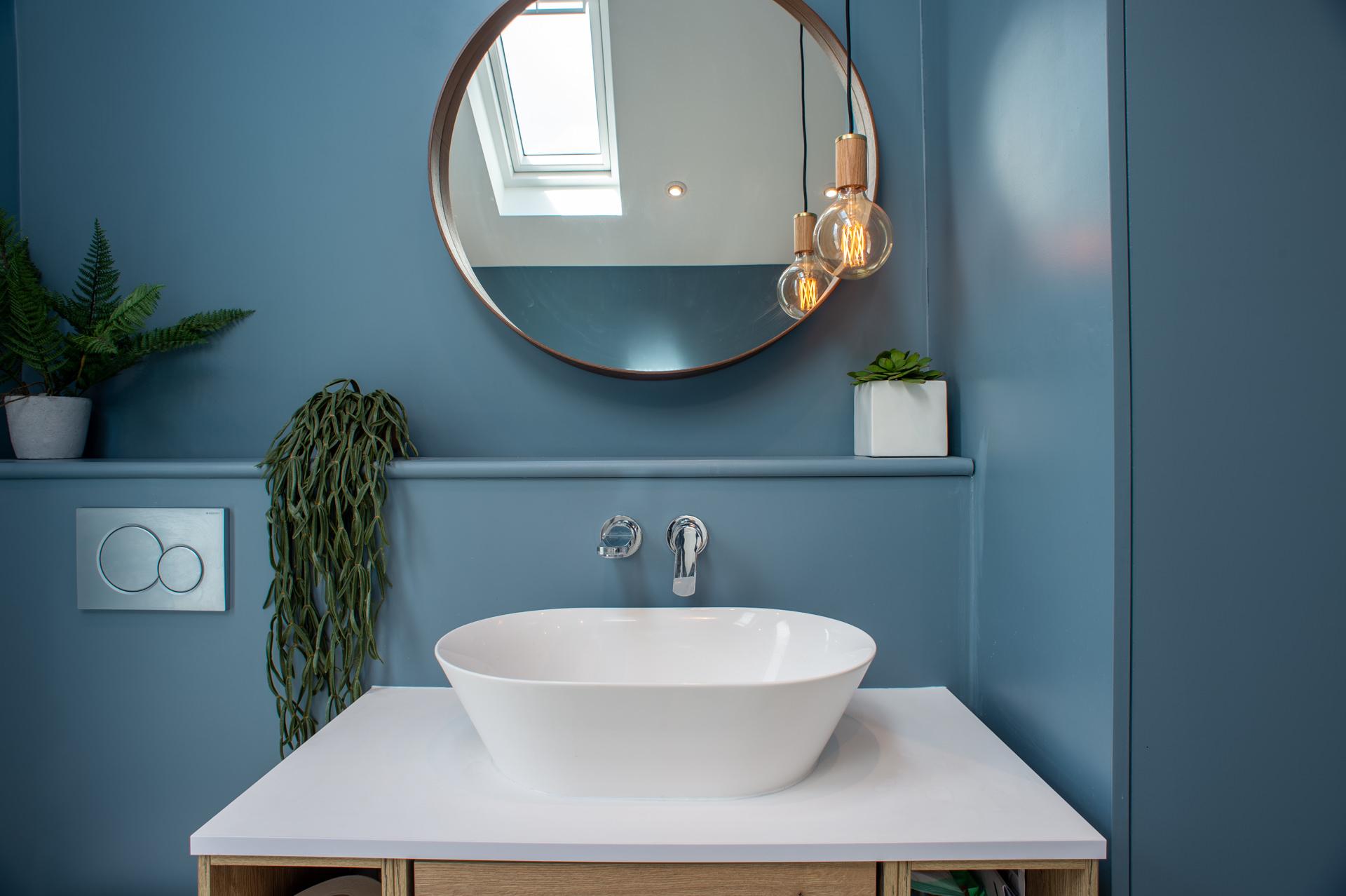 modern design bathroom in a London apartment