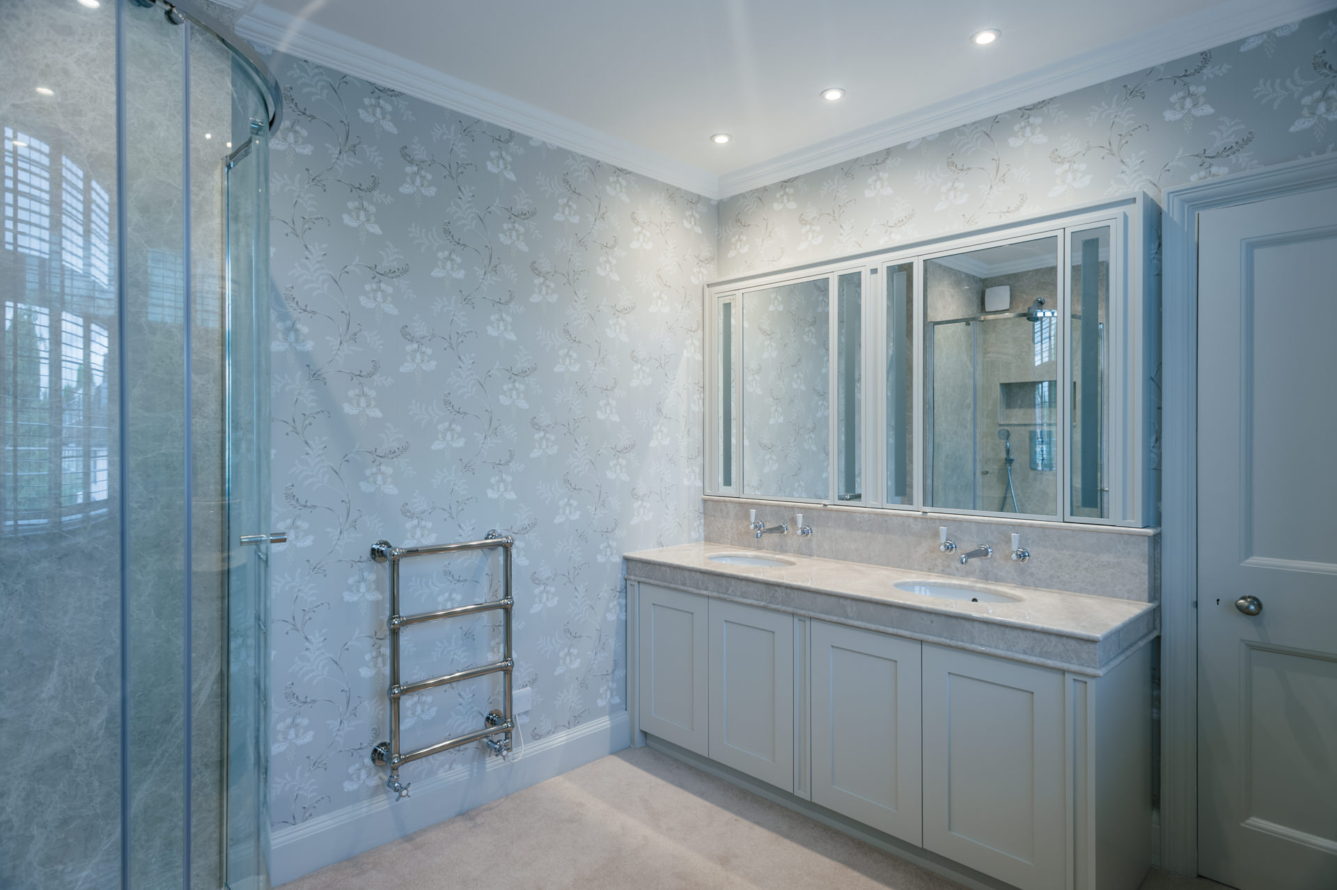 modern marble bathroom wide picture