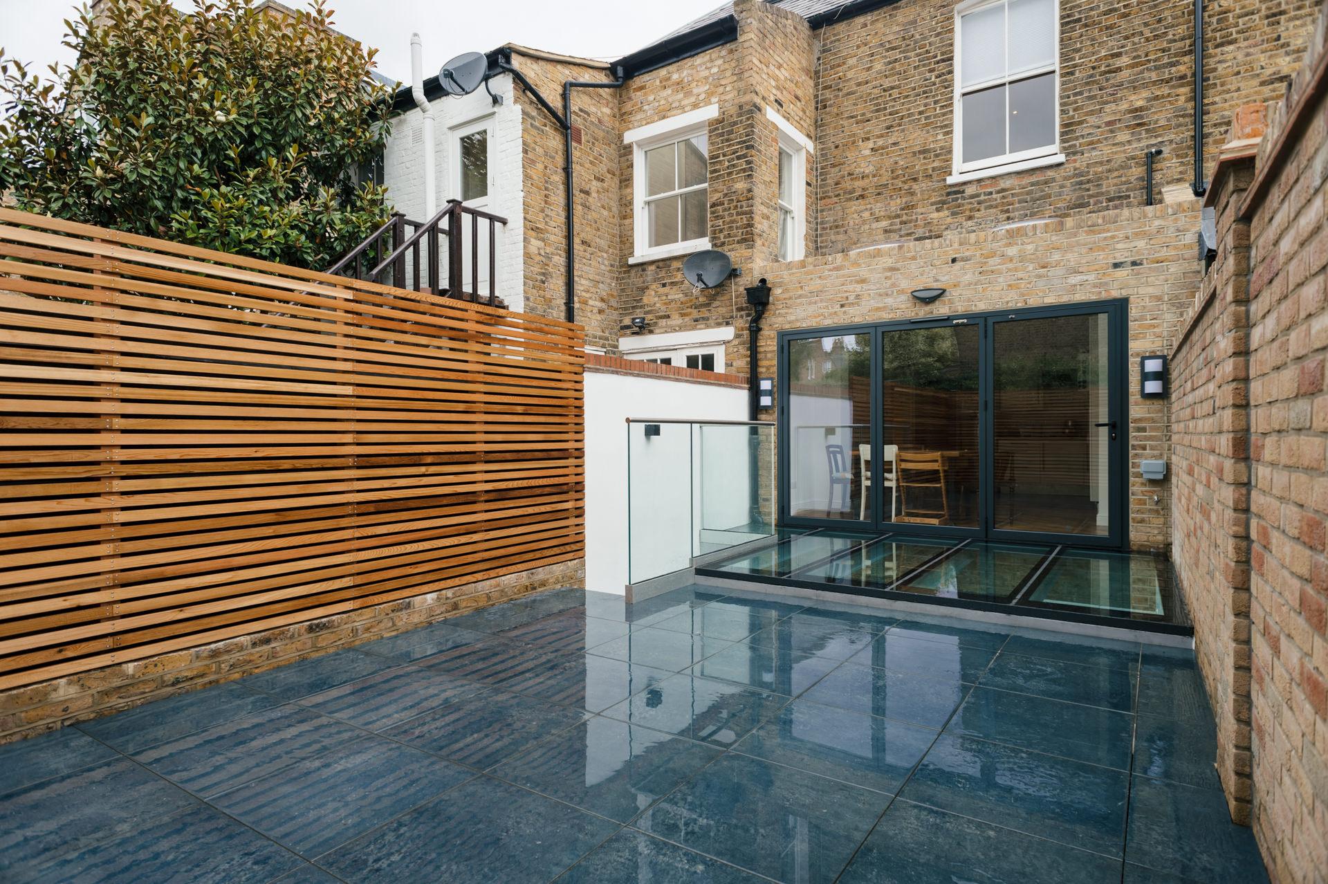modern garden design and basement conversion