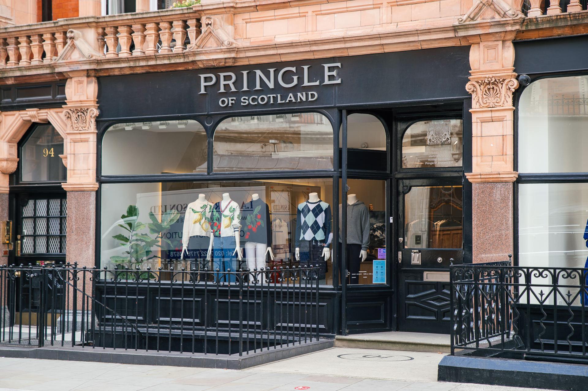 pringle of scotland store mayfair london outside