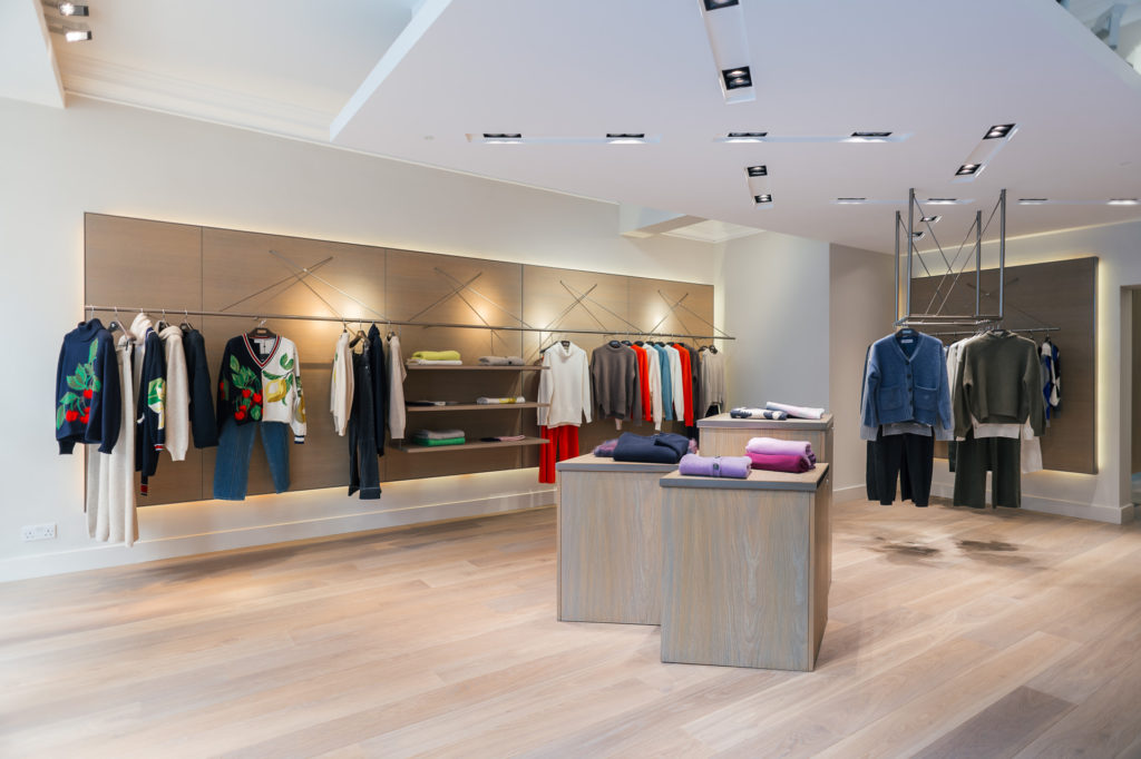 the pringle of scotland mayfair store interior
