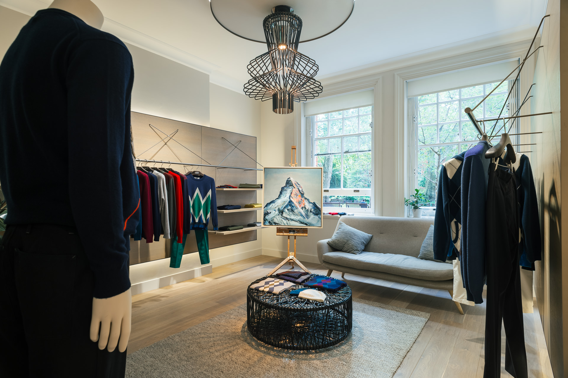 the pringle of scotland mayfair store inside view