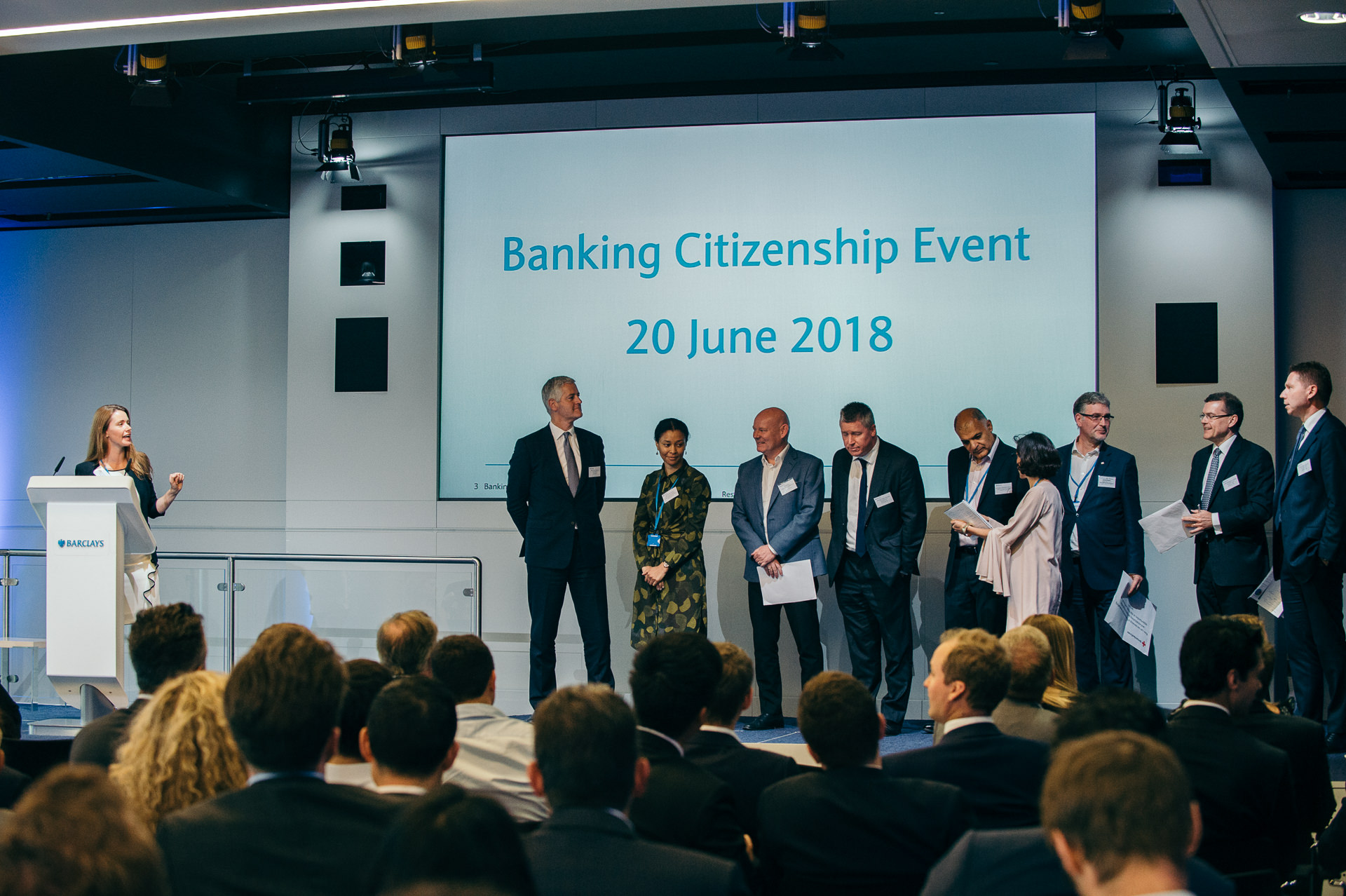 Banking citizenship event 2018 people on stage