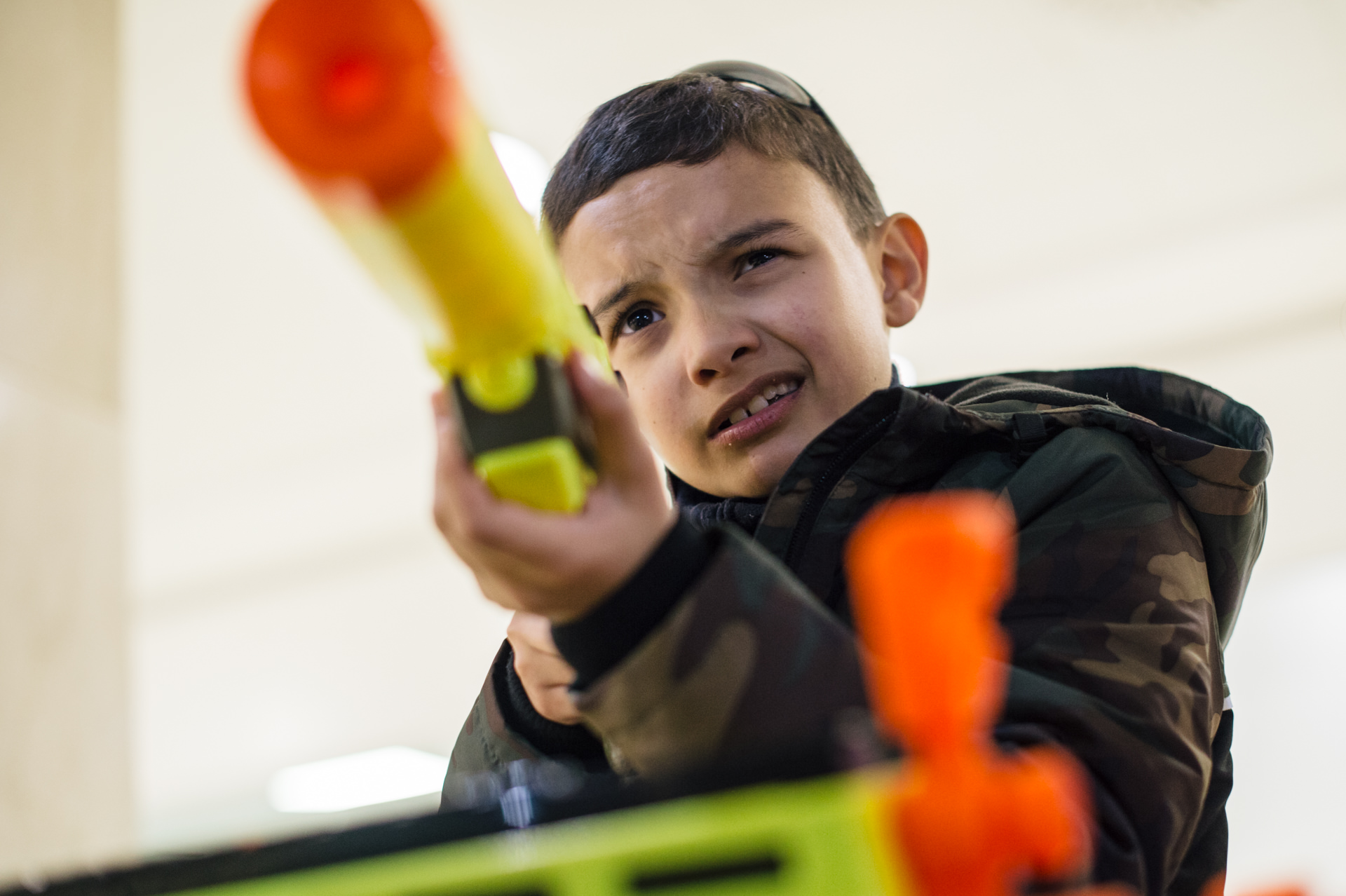 Nerf toys – promotional event in Belvedere Shopping Centere